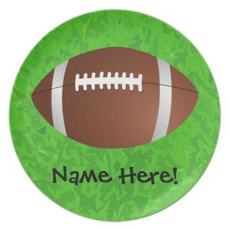 Football Field Junior Varsity Party Plates