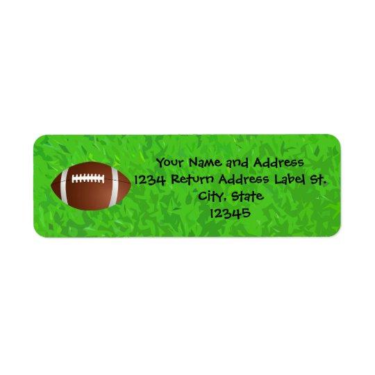Football Field Junior Varsity Return Address Label