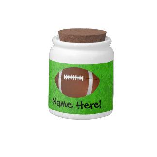 Football Field Junior Varsity Candy Jar