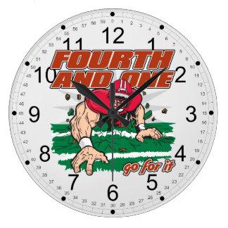 Football Fourth and One Clocks