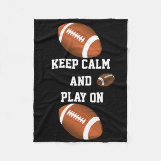 Football Game Ball Team Player Exercise Fitness Fleece Blanket
