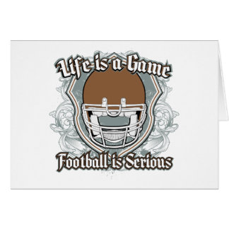Football Game Brown Greeting Card