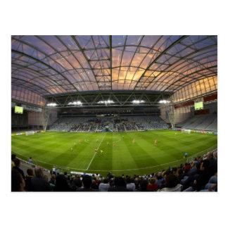 Football game, Forsyth Barr Stadium, Dunedin Postcard