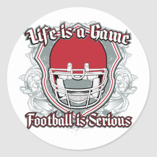 Football Game Red Classic Round Sticker