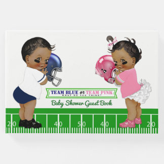 Football Gender Reveal Baby Shower Guest Book