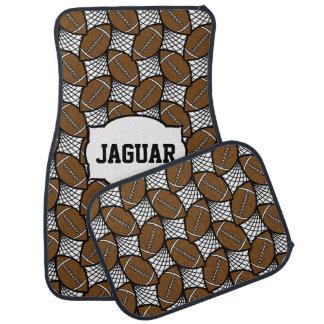 Football geometric doodle pattern car mat