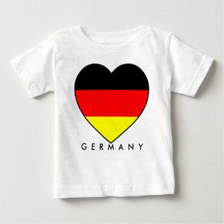 """Football Germany """"Germany"""" heart WM 2010 Baby T-Shirt"""
