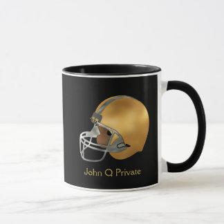 Football Gold and Silver Helmet Custom Mug