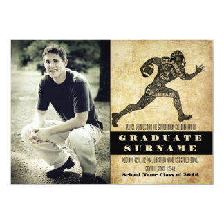 Football Graduation Celebration Invitation