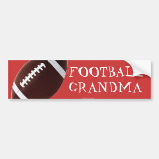 Football grandma bumper stickers