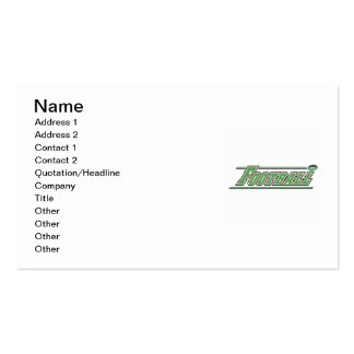 Football Green  T-shirts and Gifts Business Card Templates