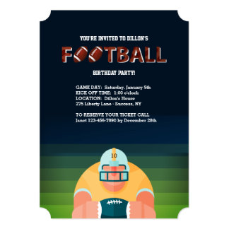 Football Guy Invitation