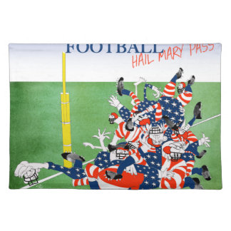 Football 'hail mary pass', tony fernandes placemat