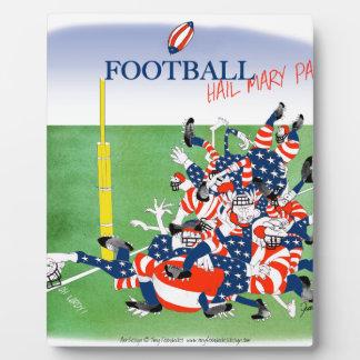 Football 'hail mary pass', tony fernandes plaque