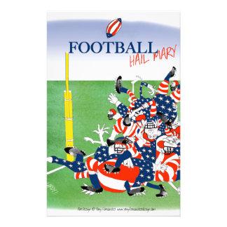 Football hail mary pass, tony fernandes stationery