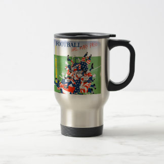 Football hail mary pass, tony fernandes travel mug