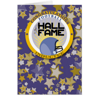 Football - Hall of Fame Inductee Congrats Greeting Card