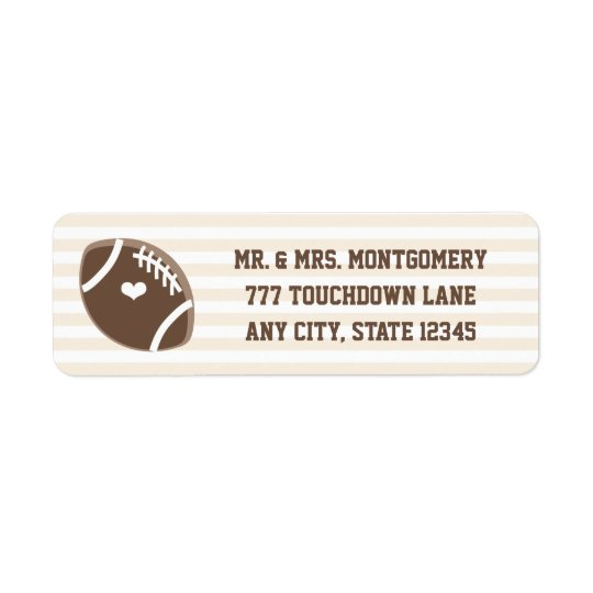 Football Heart Return Address Label