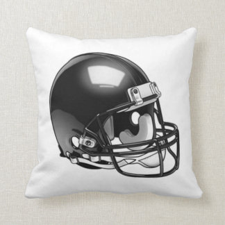 Football Hellmet Black and White Pillow