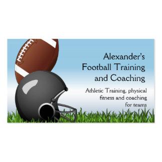 Football Helmet/Ball Pack Of Standard Business Cards