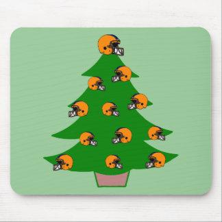 Football Helmet Christmas Tree Mouse Pad