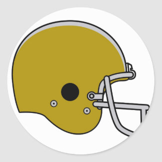 football helmet classic round sticker