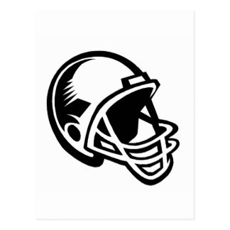 Football helmet logos postcard