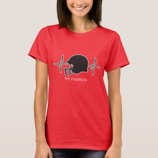 Football Helmet - My Passion Heartbeat T-Shirt