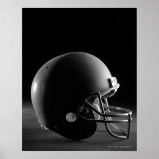 Football helmet poster