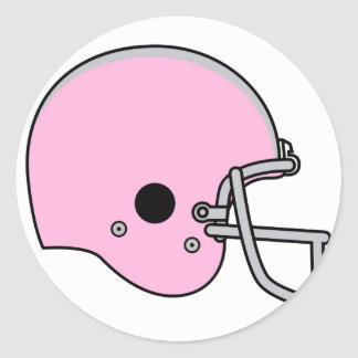 football helmets classic round sticker