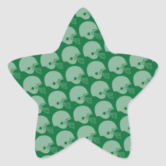 Football Helmets Pattern (green) Star Sticker