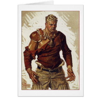 Football Hero by Joseph Leyendecker Card