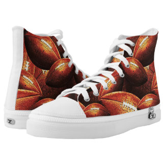 Football Hightop Printed Shoes