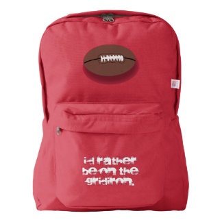 Football I'd Rather Be on the Gridiron Backpack