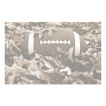 Football in Sepia Stationery Design