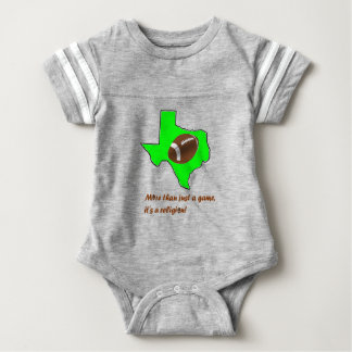 Football in Texas is Religion Baby Bodysuit