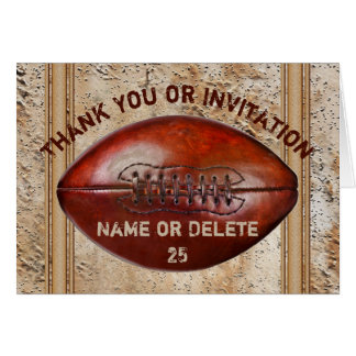 Football Invitations or Football Thank You Cards