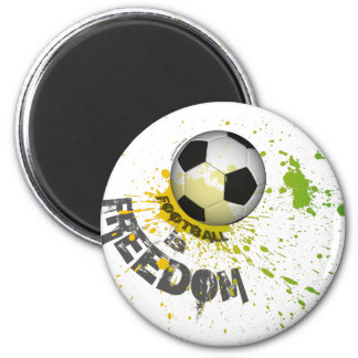 "Football is F magnet (rnd1.25-3"" splash ball grn)"