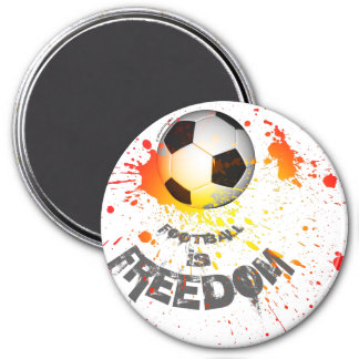 "Football is F magnet (round 3"" splash ball orange)"