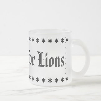 Football is for Lions Frosted Glass Coffee Mug