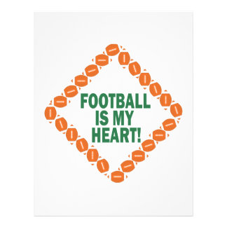 Football Is My Heart Personalized Flyer