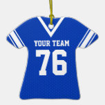 Football Jersey Blue and White
