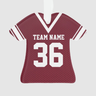 Football Jersey Maroon Uniform with Number Ornament