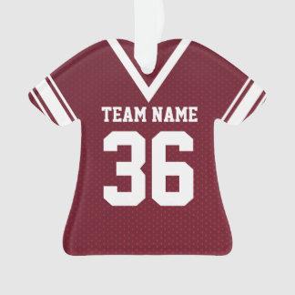 Football Jersey Maroon Uniform with Photo Ornament