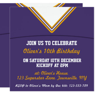 Football Jersey Themed Party Invite Template