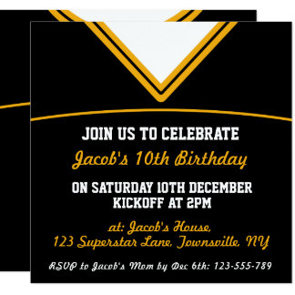 Football Jersey Themed Party Invite Template, LAX