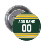 Football Jersey with Custom Name Number Badge