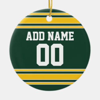 Football Jersey with Custom Name Number Christmas Tree Ornaments