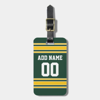 Football Jersey with Custom Name Number Luggage Tag