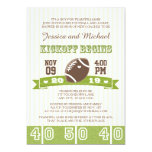 FOOTBALL KICKOFF COUPLES BABY SHOWER 13 CM X 18 CM INVITATION CARD